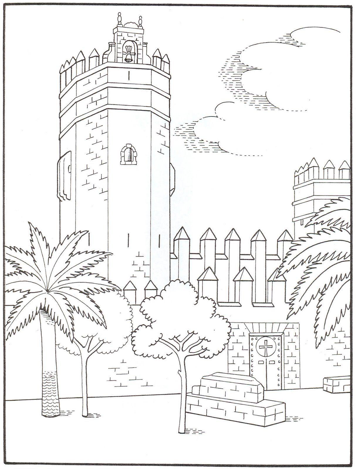 Atractivo Hoja Para Colorear De Castillo Colección de Imágenes ...